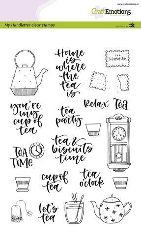 CraftEmotions - Clearstamps A6 - Handletter Tea Time