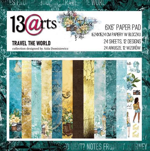 13@rts - Paper Pad 15,2 x 15,2 cm - Travel the World