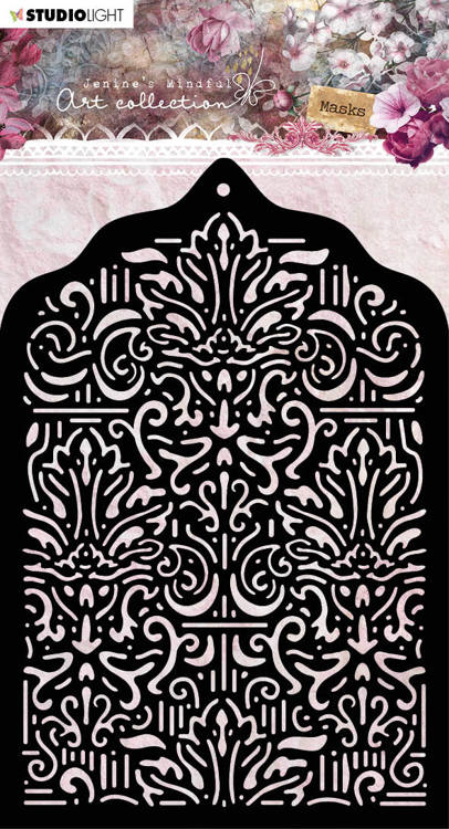 Studio Light - Jenine's Mindful Art Collection 3.0 - Mask Stencil A6 - 05 (Baroque)