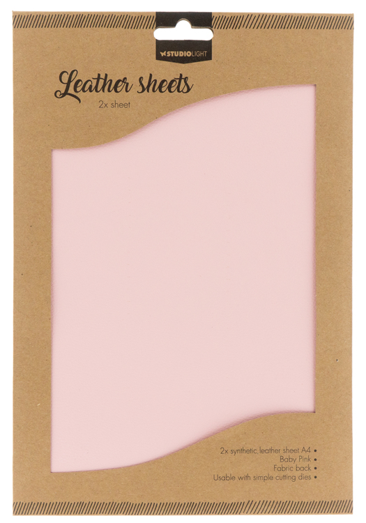 Studio Light - Fake Leather Sheets - 05 Baby Pink