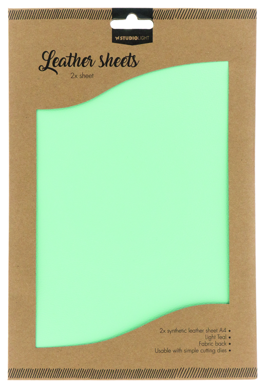 Studio Light - Fake Leather Sheets - 07 Light Teal