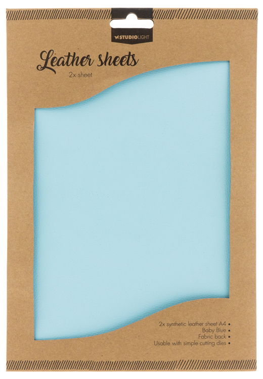 Studio Light - Fake Leather Sheets - 08 Baby Blue