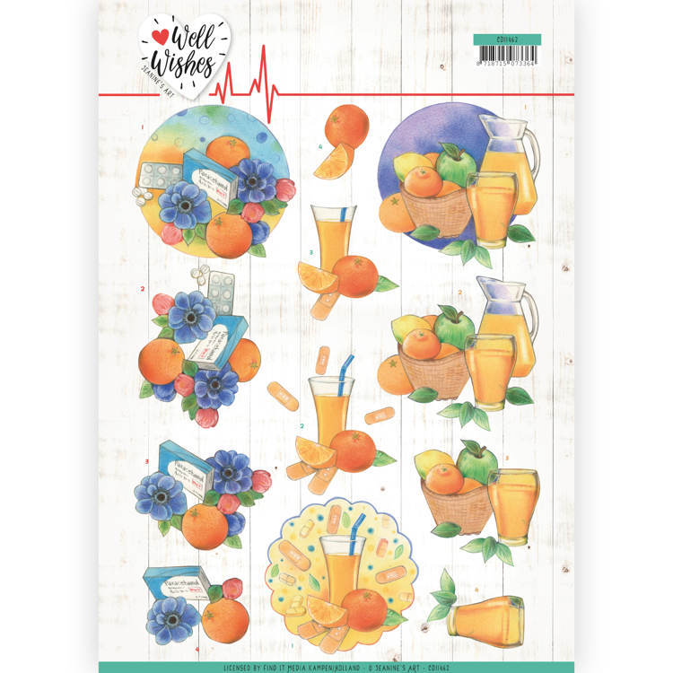 3D Cutting sheet - Jeanine's Art - Well Wishes - Pills and Vitamins