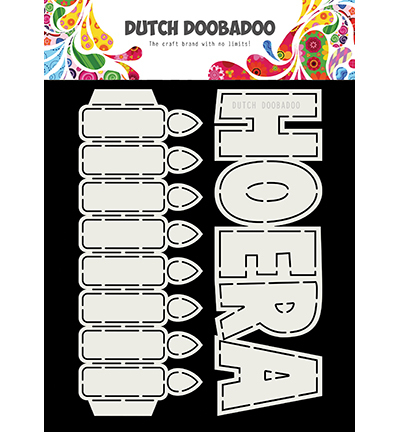 Dutch Doobadoo - Dutch Card Art - Tekst HOERA + kaarsen