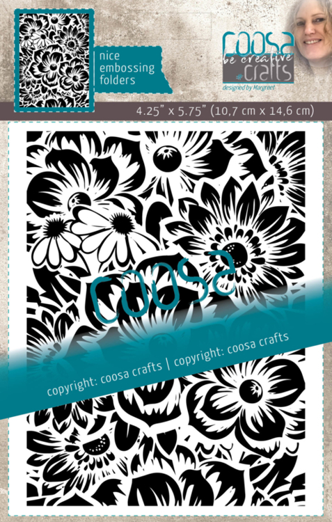 Coosa Crafts- Embossing Folder - Bloom by Margreet