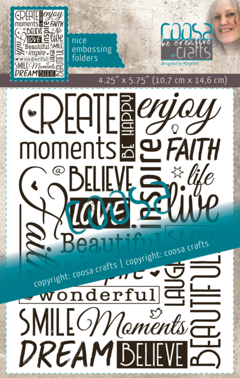 Coosa Crafts- Embossing Folder - Inspire by Margreet