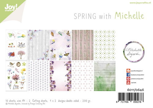 Joy! Crafts - Paperpad A4 - Lente met Michelle