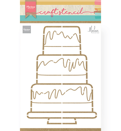 Marianne Design - Craft Stencil - Partycake by Marleen