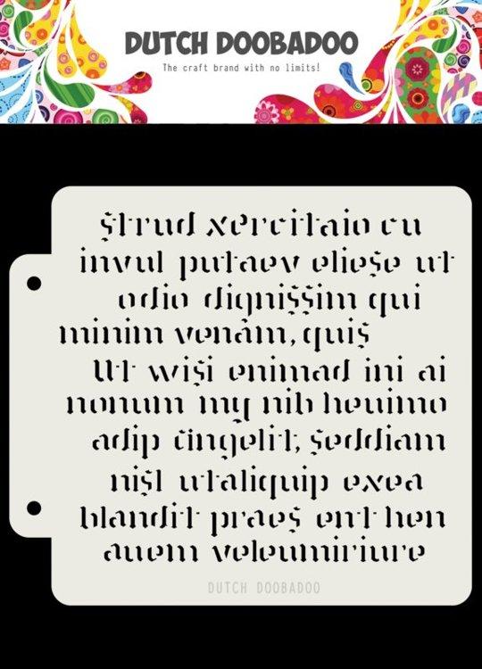 Dutch Doobadoo - Dutch Mask Art - Script