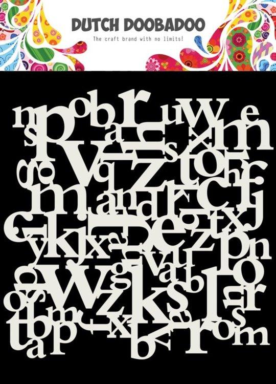 Dutch Doobadoo - Dutch Mask Art - Letters