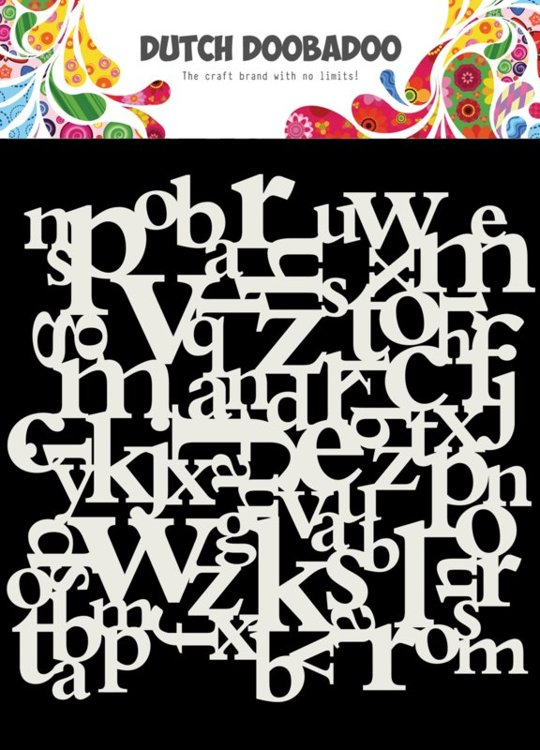 Dutch Doobadoo - Dutch Mask Art - Letters