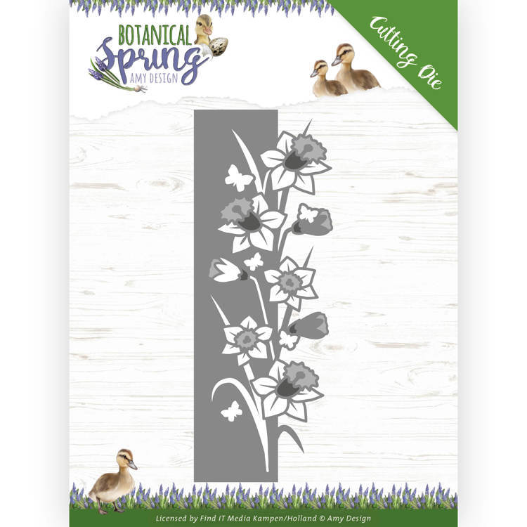 Stansmal - Amy Design - Botanical Spring - Daffodil Border