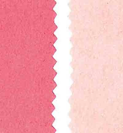 Stafil - Vegan leer - Dubbelzijdig fluweel - Light Pink / Dark Pink