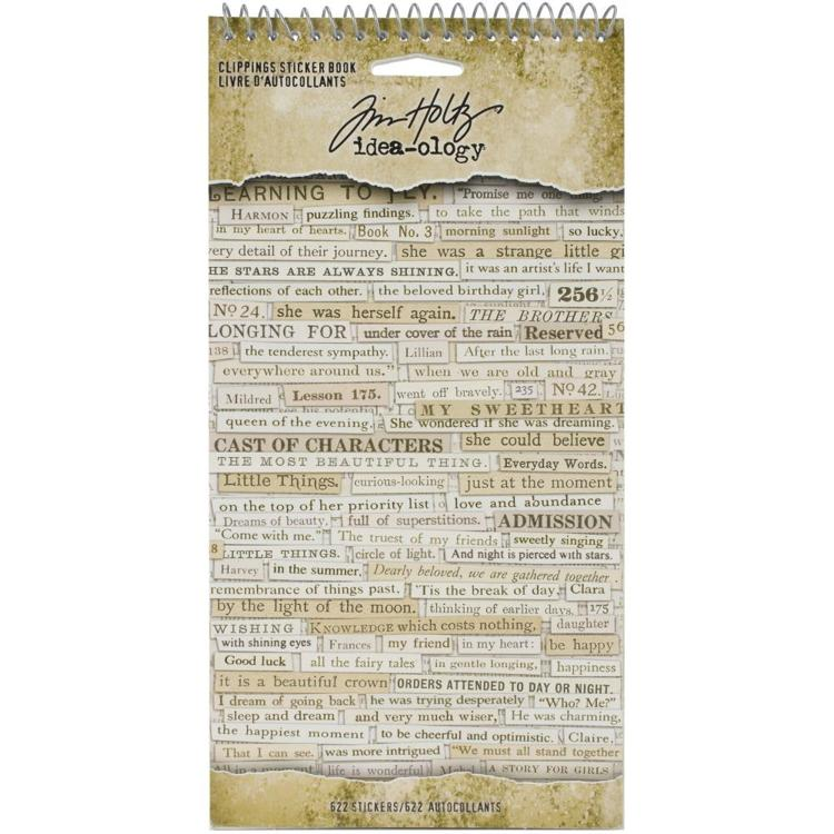 Tim Holtz - Idea-Ology - Stickers Clippings (622/Pkg)