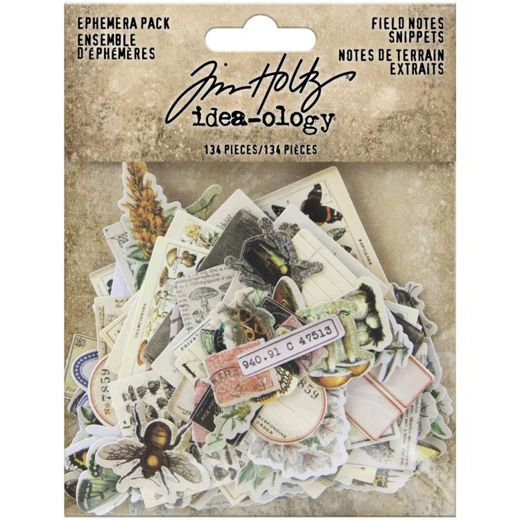 Tim Holtz - Idea-Ology - Ephemera Pack Field Notes Snippets