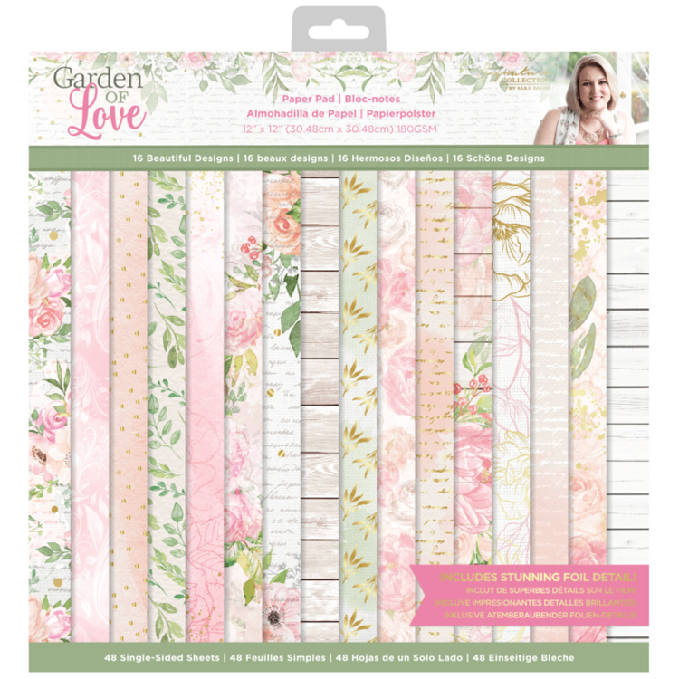 Crafter's Companion - Paperpad 15,2 x 15,2 cm - Garden of Love