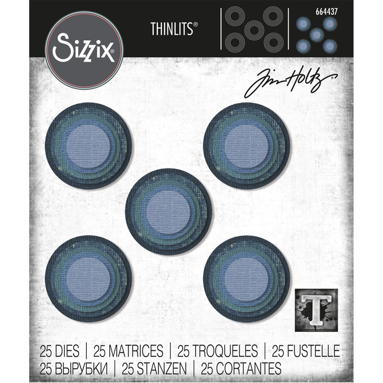Sizzix - Thinlits Die set - Stacket Circles (25pk)