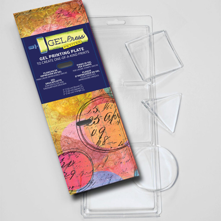 Gel Press Printing Plate - Petites set - Round/Triangle/Square