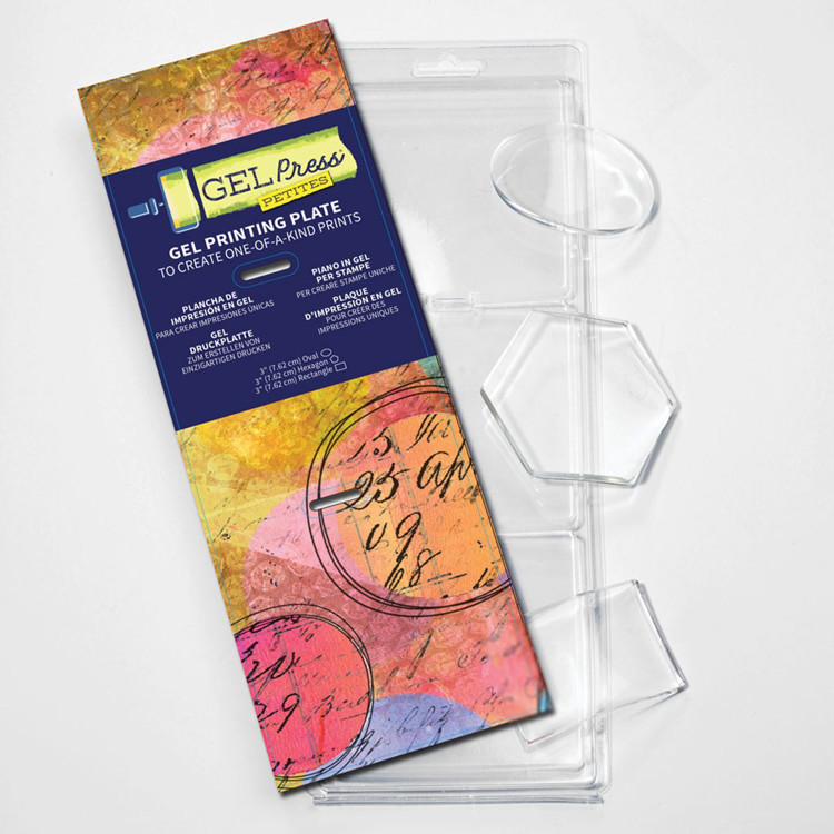Gel Press Printing Plate - Petites set - Oval/Hexagon/Rectangle