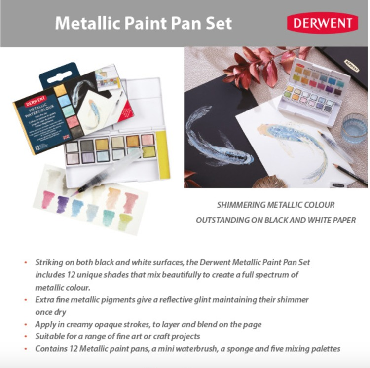 Derwent Paint Pan Set - Metallic