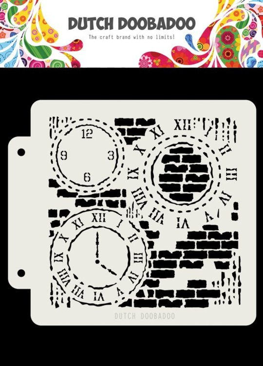 Dutch Doobadoo - Dutch Mask Art - Clocks and Bricks