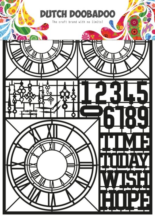 Dutch Doobadoo - Dutch Laser Paper Art - Black Clocks