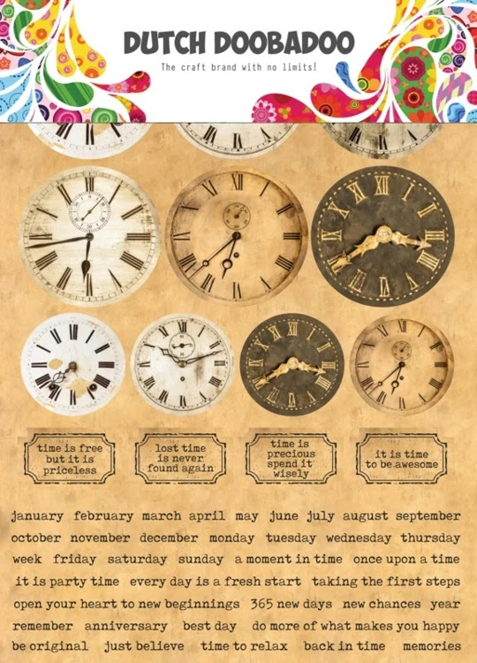 Dutch Doobadoo - Dutch Sticker Art - A4 Clocks