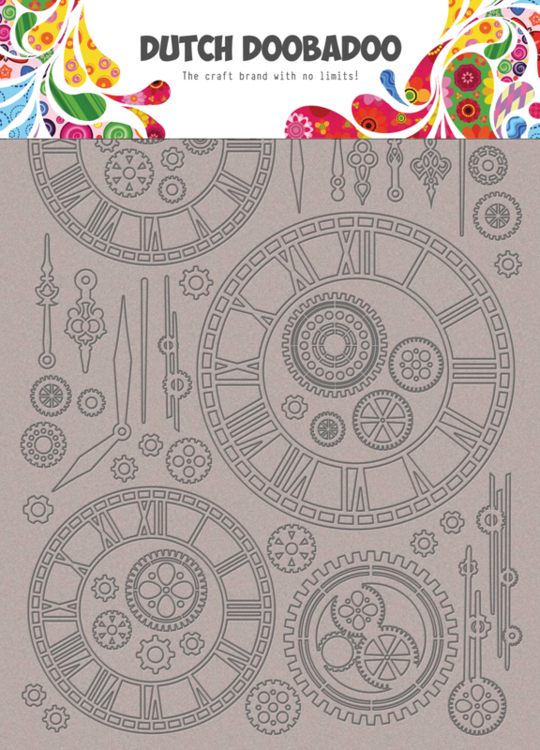 Dutch Doobadoo - Dutch Chipboard Art - A5 Clocks