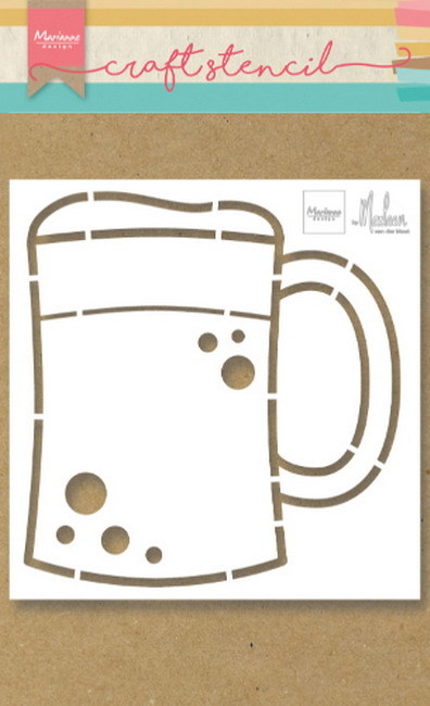 Marianne Design - Craft Stencil - Beer mug by Marleen