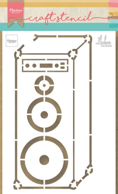 Marianne Design - Craft Stencil - Music Speaker by Marleen