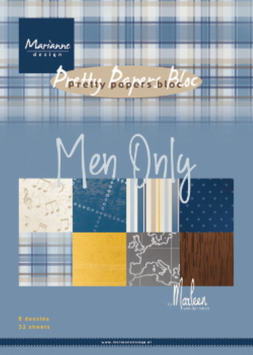 Marianne Design - Paperpad A5 - Men Only by Marleen