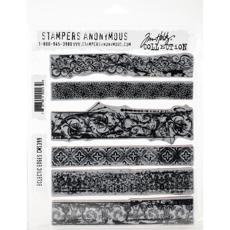 "Tim Holtz - Cling Stamps 7""X8.5"" - Eclectic Edges"