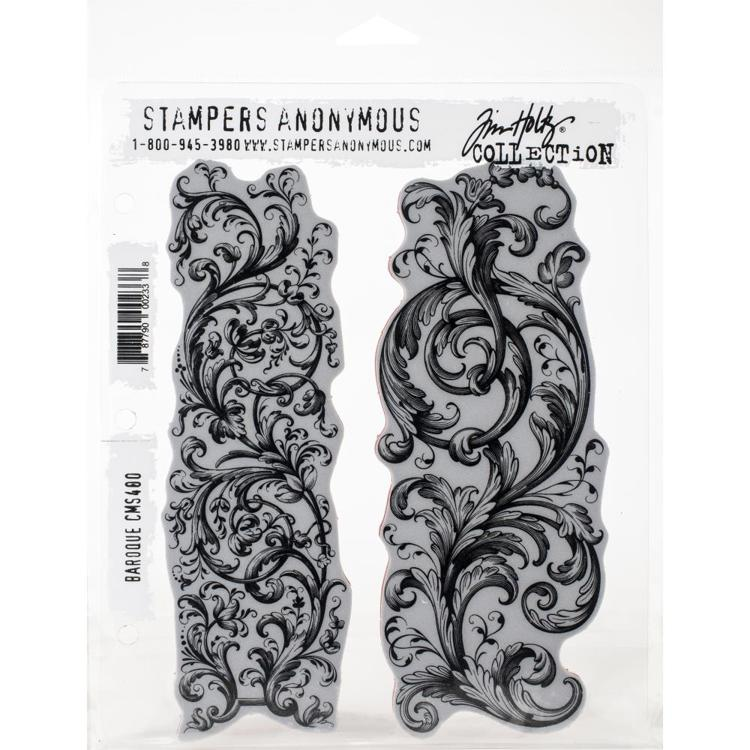 "Tim Holtz - Cling Stamps 7""X8.5"" - Baroque"