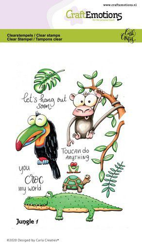 CraftEmotions - Clearstamps A6 - Carla Creaties - Jungle 1