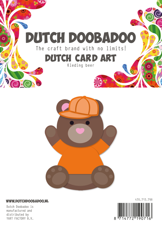 Dutch Doobadoo - Dutch Card Art - Build Up Bear (accessoires)