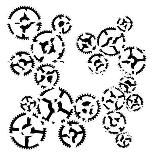 Stencils 13@rts - Victoriana - Dance of Gears