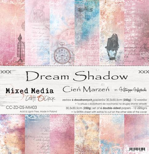 Craft O' Clock - Mixed Media Collection - Dream Shadow - Paperpad 30,5 x 30,5 cm