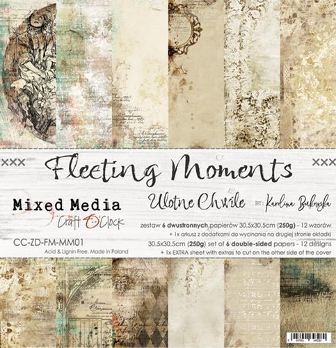 Craft O' Clock - Mixed Media Collection - Fleeting Moments - Paperpad 30,5 x 30,5 cm