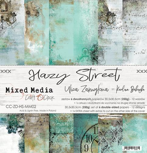 Craft O' Clock - Mixed Media Collection - Hazy Street - Paperpad 30,5 x 30,5 cm