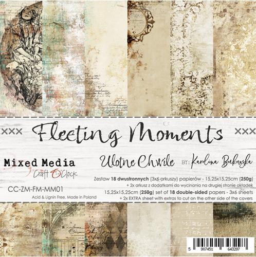 Craft O' Clock - Mixed Media Collection - Fleeting Moments - Paperpad 15,2 x 15,2 cm