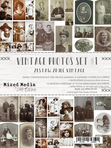 Craft O' Clock - Mixed Media Collection - Vintage Photo set