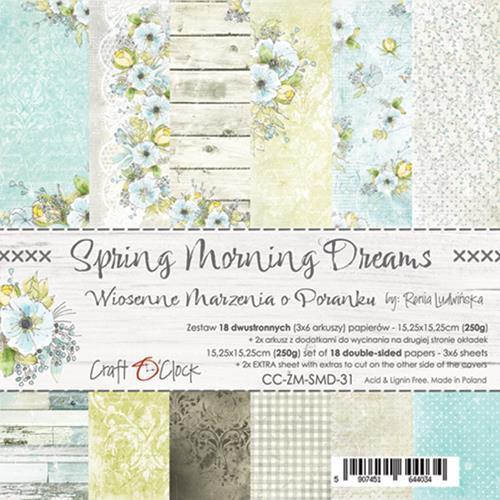 Craft O' Clock - Spring Morning Dreams - Paperpad 15,2 x 15,2 cm