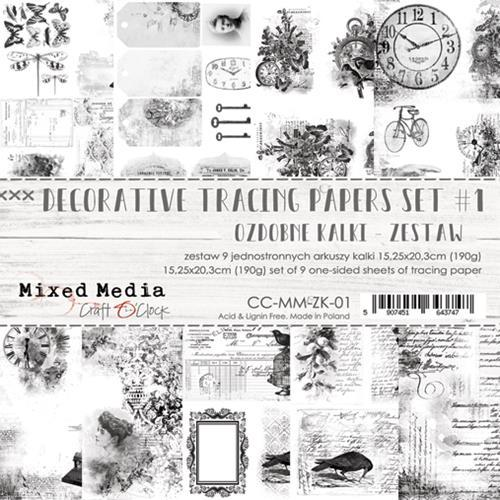 Craft O' Clock - Mixed Media Collection - Tracing Papers Set