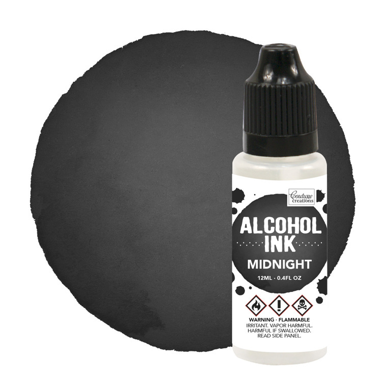 Couture Creations - Alcohol Inkt - Pitch Black / Midnight (12mL | 0.4fl oz)