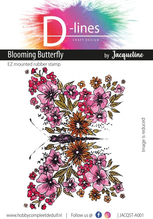 D-Lines - EZ mounted rubber stamps - Blooming Butterfly