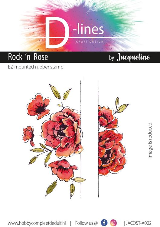 D-Lines - EZ mounted rubber stamps - Rock 'n Rose