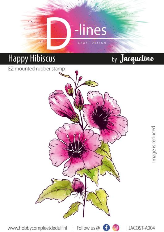 D-Lines - EZ mounted rubber stamps - Happy Hibiscus