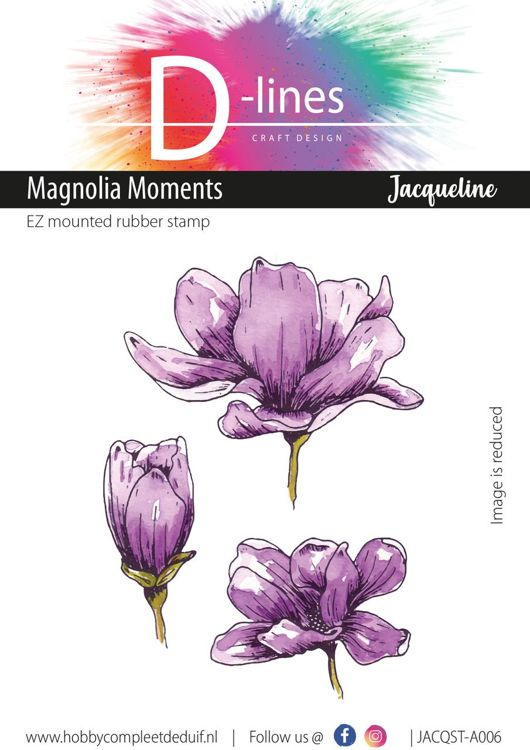 D-Lines - EZ mounted rubber stamps - Magnolia Moments