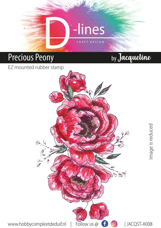 D-Lines - EZ mounted rubber stamps - Precious Peony