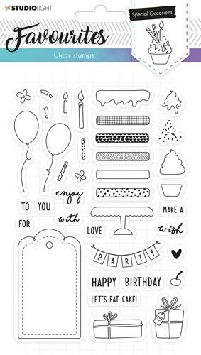 Studio Light - Clearstamp Essentials Favourites - A5 STAMPSL484